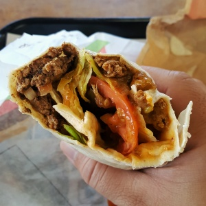 BK Whopperito cross section